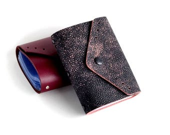 Leather credit card holder Business Card Holder Small leather card wallet for women Leather card case Gift for women Leather goods