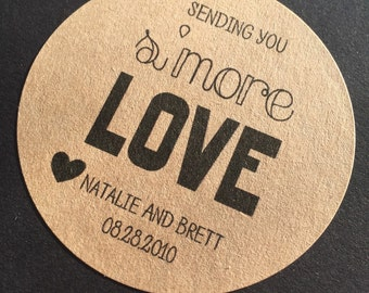 S'more Love, Smore Love sticker, smore love label, s'mores sticker, s'mores label, wedding favor, bridal shower favor