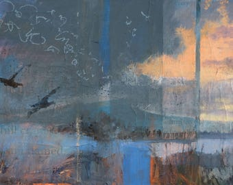 That Morning We Discovered Flight ~ Original Contemporary Abstract Landscape Painting