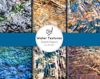 Nature Digital Paper 'Water Ripples' | Scrapbooking Paper | Earth Textures | Nature Photography | Abstract Nature | Australian Landscape