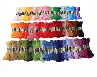 200 Skein Multi Color Embroidery Floss; Cross Stitch Embroidery Thread
