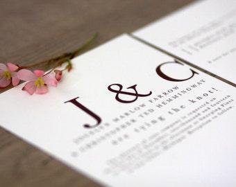 Playful Typography Essentials / Printable Wedding Invitation Kit (DIY)