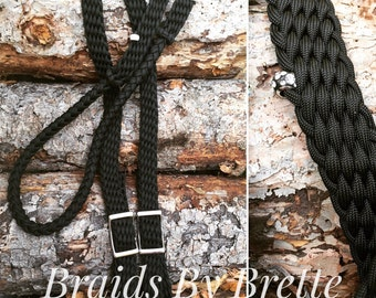 Barrel reins, beaded bling, 8 ft adjustable, flashy horse tack