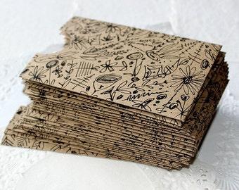 Handmade Envelopes, Business Card Envelopes, Gift Card Envelopes, Flower Illustration Envelopes