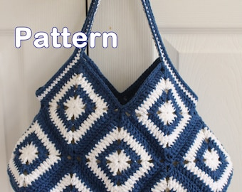 Crochet Granny Square Hobo Purse Bag PDF Pattern