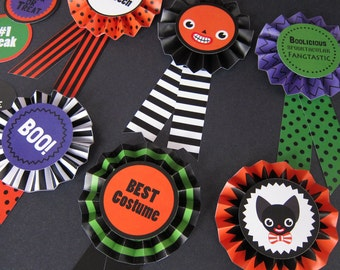 Halloween Paper Award Ribbons Printable Paper Craft PDF