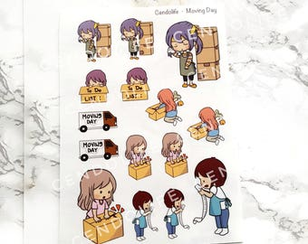 Diary Sticker and Planner Sticker - Moving Day