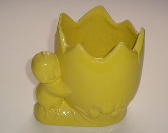 Vintage Chick with Large Egg Bowl / Planter