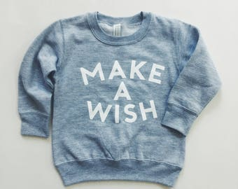 MAKE A WISH Toddler Crew Neck