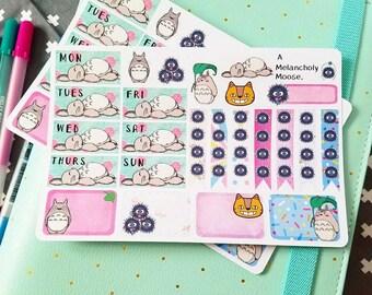 Totoro Sampler~ hand drawn planner stickers