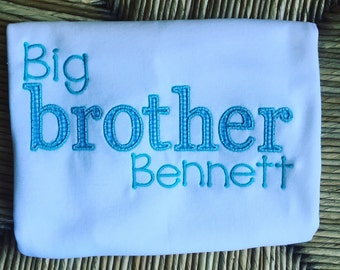 Big brother shirt. Biggest brother shirt. Baby brother shirt. Little brother shirt. Littlest brother shirt. Baby announcement shirt.