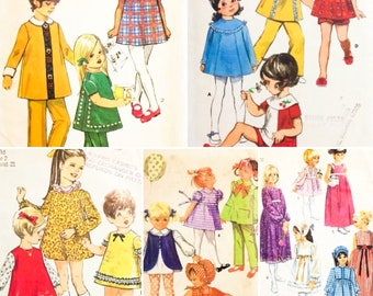 10 Vintage 60's & 70's Child's/Toddlers' Dresses Sz 1-5 (0253)