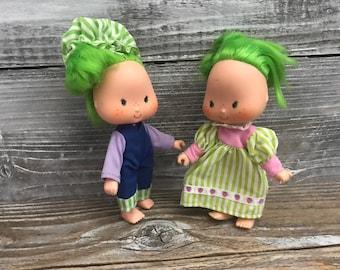 2 Vintage Strawberry Shortcake Lime Chiffon 1979 Collectible Dolls American Greetings Shortcake Friends