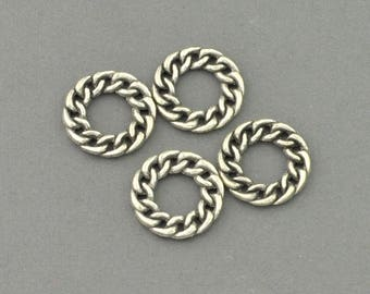 Antique Silver Tone Twisting Loop_2 Charm (AS00-0112)