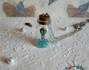 Bottle Balloon Flight Necklace