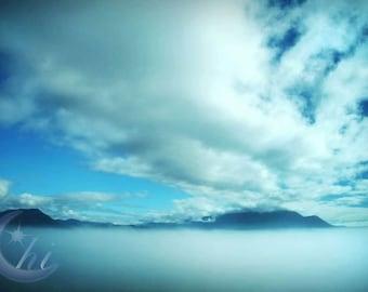 Nature and Cloud Photography.  Alaska Photography.  Winter Photography. 8x12 Print