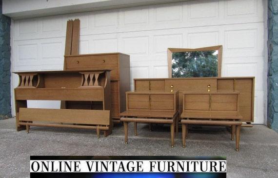 1950s bedroom furniture. RARE 1950s Bedroom Set Kent Coffey Sequence dresser credenza chest  headboard nightstands vintage mid century modern mcm atomic