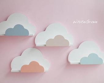 Cloud,Shelf,Cloud Shelf,Cloud Nursery Decor,Cloud Kids Decor,Bookshelf,Cloud Wall Shelf,Cloud Nursery,Wall decor,Wall hanging cloud