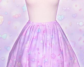 """Pink """"AlpacaCorn Fluff"""" Skirt"""