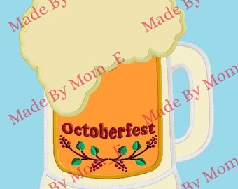 Oktoberfest Folk Art Beer Mug