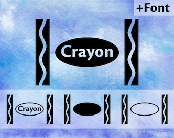 Crayon svg, crayola svg, crayon wrapper svg, art svg, art party svg, school svg, crayon font svg, dxf, dxf files, svg files, svg
