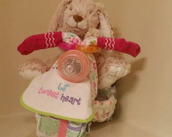 Tricycle Diaper Cake - Baby Shower Gift, Centerpiece or Hospital Gift can be made for Boy, Girl or Neutral