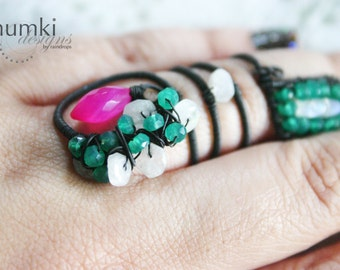Pushpaj /// a cocktail Ring by Jhumki Luxe - designs by raindrops