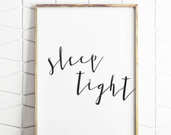 master bedroom decor, master bedroom wall decor, master bedroom wall art, master bedroom typography, sleep tight decor, sleep tight art