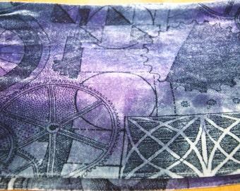 Hand Painted Silk Velvet Scarf