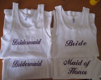 7 Bride Bridesmaid Tanks