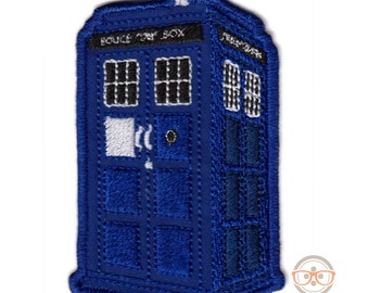 Doctor Who Patch - TARDIS Police Box - Embroidered Sci-Fi Iron on Patch
