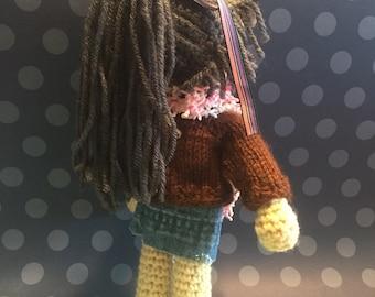 Amigurumi crocheted doll