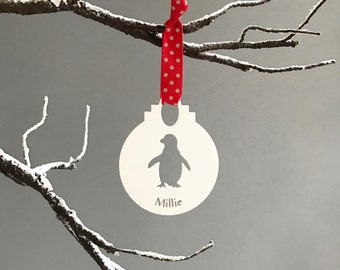 Personalised Penguin Bauble Bauble-Personalised Christmas Tree Decoration-Personalised Holiday Decorations-Personalised Bauble