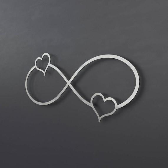 2 Hearts Infinity Symbol Metal Wall Art Infinity Wall Decor
