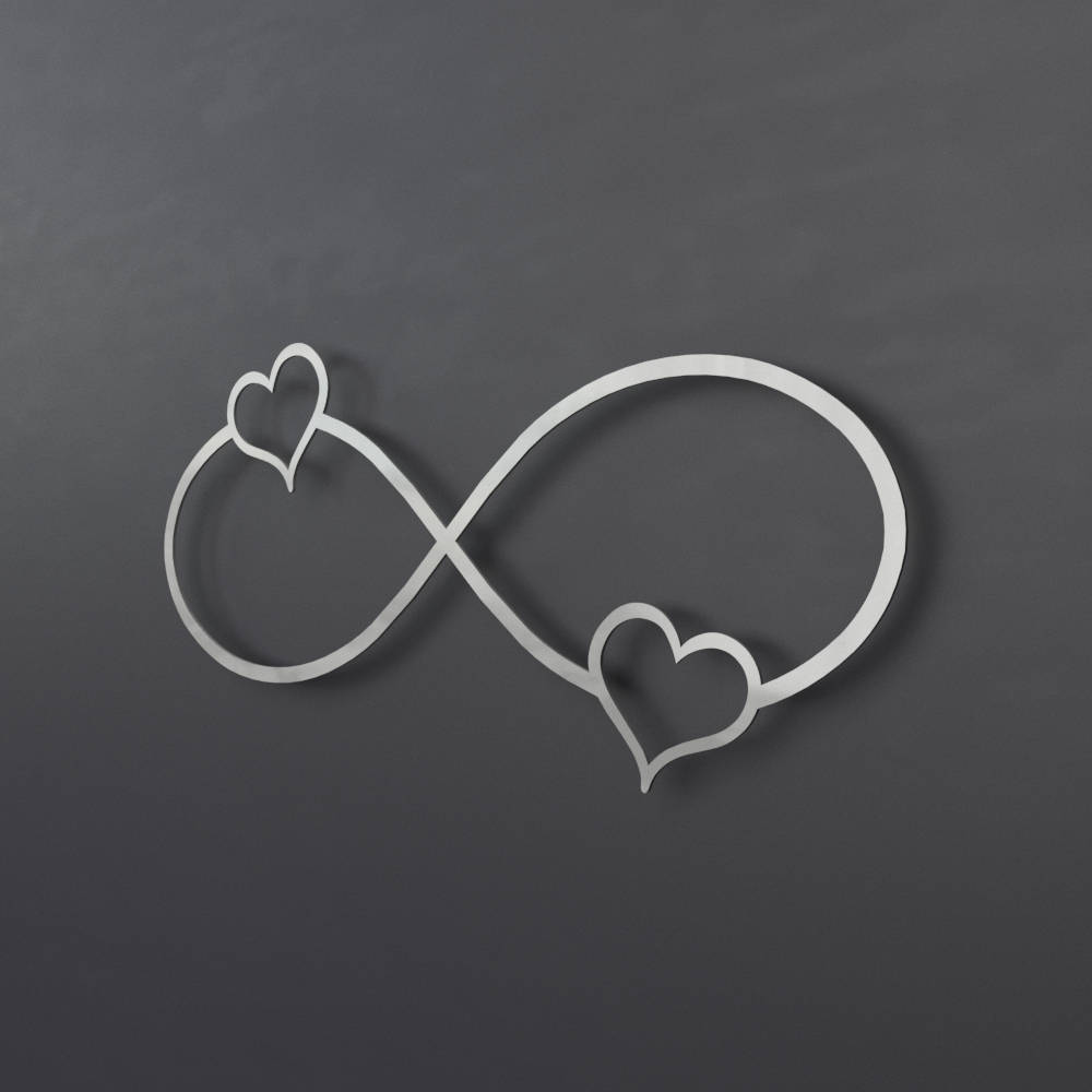 2 hearts infinity symbol metal wall art infinity wall decor zoom biocorpaavc Gallery
