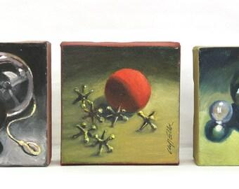 "oil on Canvas ""Toys Triptych"""