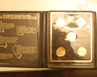 2003 State Quarter Collection=24KT Gold Plated  BU