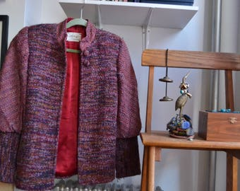 Vintage Woven, Silk-Lined Women's Jacket, Size M/L
