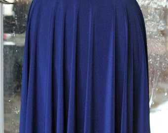 Royal Blue Circle Skirt - Knee Length