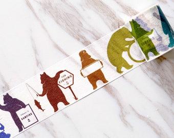 Bear Washi Tape /animal  Washi Tape /colorful bear  wahi tape/scrapbook washi  tape /planner decor