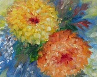 Mums - original oil painting