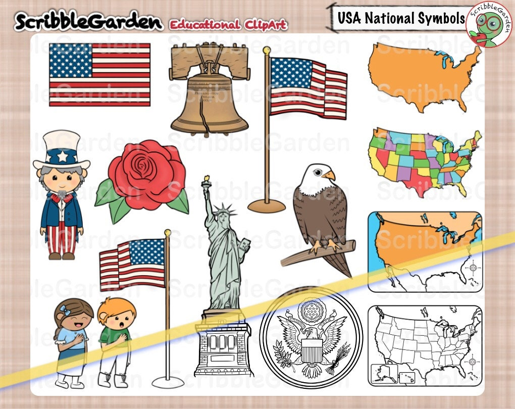 Usa national symbols clipart zoom biocorpaavc Images