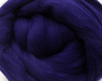 4 oz. Merino Wool Top - Nautical Blue - Ships Free