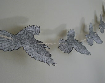 A Murder of Crows - DIY Crow Garland for Samhain / Halloween or any time of year!