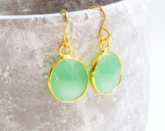 Stone Earrings-Green