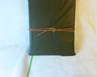 The Silmarillion history book by JRR Tolkien recovered in elven leather Lothlorien Mirkwood Rivendell Imladris