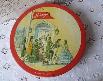 Vintage Candy Tin , Collectible Tin , Storage Tin , Shabby Tin , Vintage Tin Box , Swersey's Tin , Old Tin Container
