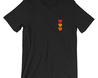 Girl's Heart-Shaped T-shirt Summer Fashion Tee