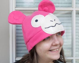 Slowpoke Fleece Hat Beanie Pokemon Costume Cosplay Cute Pink Adult Sized Slowking Slowbro Video Game Anime Cartoon Gift Ideas Winter Cap