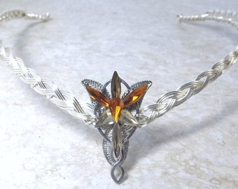 Amber Evenstar Circlet Crown Tiara Celtic Weave